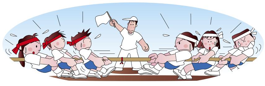 運動会の綱引き