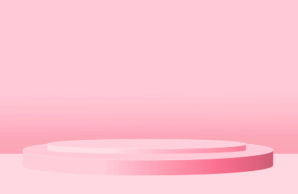 背景素材 ステージ 台座 円 ピンク