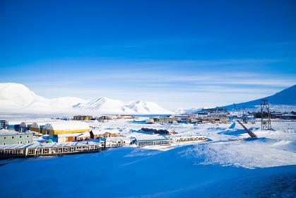スピッツベルゲン島の氷原
