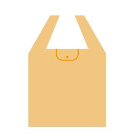 オレンジ色のマイバッグのイラスト