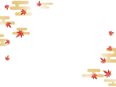 秋のもみじの背景素材