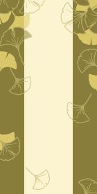 和風のいちょうの背景イラスト(秋のイメージのバナー素材)