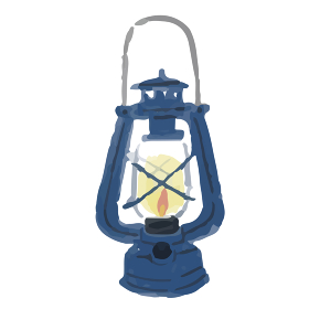 アウトドア 電灯 キャンプライト 防災 イラスト 手描き 水彩