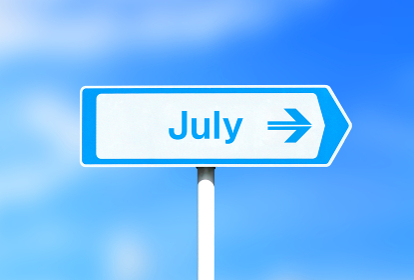 7月の看板