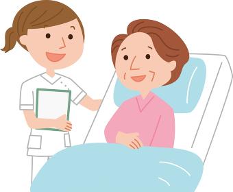 医療イラスト 患者と看護師