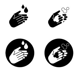 感染予防 手洗いのアイコン