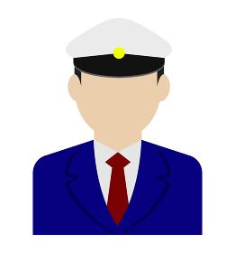 上半身シルエット人物イラスト (アジア人・日本人) / タクシードライバー・バス運転手