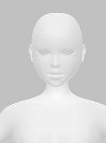 正面を向いたリアルな人の顔