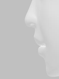 リアルな人の鼻・口・顎