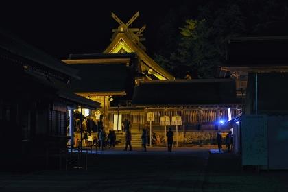 出雲大社 夜の風景