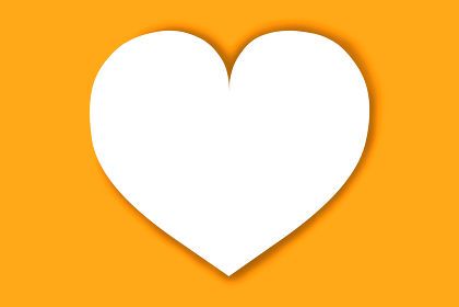 ハート カード オレンジ