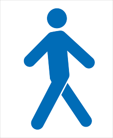 人体 人のピクトグラム イラストポーズ 歩く人ウォーキングのピクトグラム