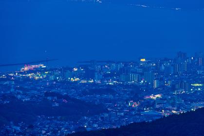 別府市十文字原展望台からの夜景
