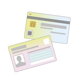 マイナンバーカード 表裏のイラスト シンプル
