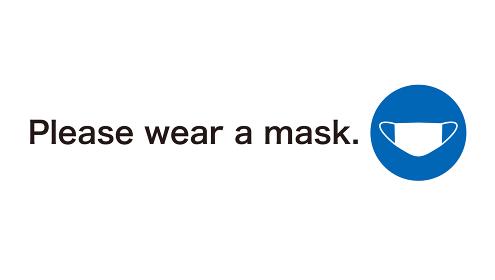 コロナウイルス感染予防の英語表記サイン