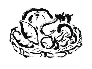 秋の味覚 食材のざる盛り