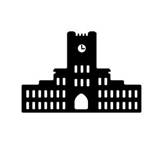 東京ランドマークシルエットイラスト (東京大学)
