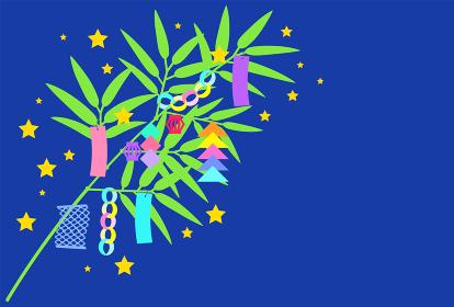七夕飾り【星空を背景にした笹飾り】