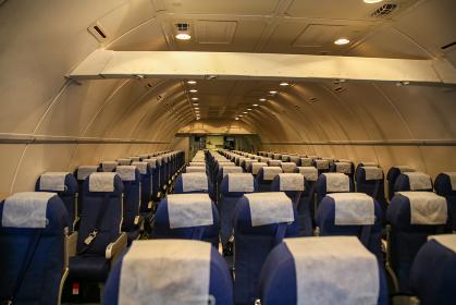 航空機内の座席の配置