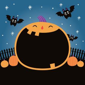 ハロウィンの夜のシーン、背景素材