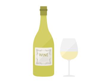 白ワインのイラスト