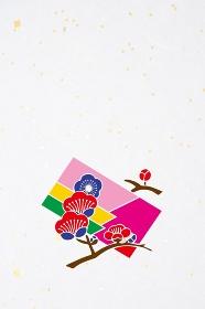 梅の花と色紙