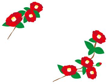 椿の花のベクターイラスト