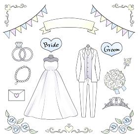 結婚式のイラストセット