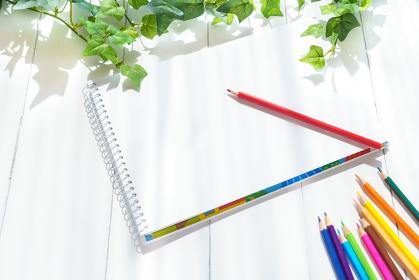 スケッチブック 色鉛筆