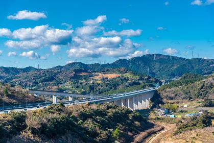 浜松SA上りから眺める新東名高速