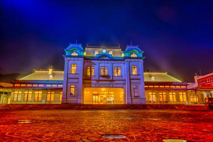 夜の門司港駅