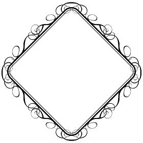 バロック調のオーナメント・飾り罫・飾り囲み・背景|ベクターデーター
