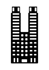 東京ランドマークシルエットイラスト (東京都庁)