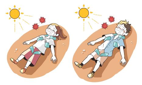 熱中症と新型コロナウイルスで倒れる 屋外で