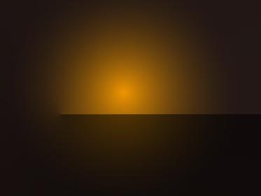 オレンジのシンプルで幻想的な光