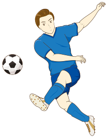 サッカーをする男性02