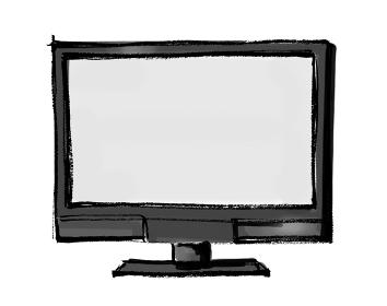 手描きイラスト素材 テレビ TV 大画面