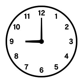 9時の時計アイコン