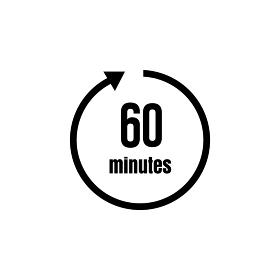 時間・タイマー 時間制限 アイコン (60分/1時間)