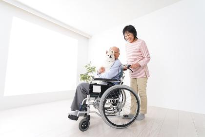 介護をする高齢の夫婦