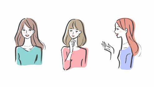 女性 3人セット
