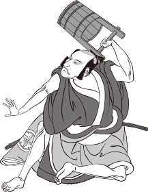 浮世絵 歌舞伎役者 その71 白黒