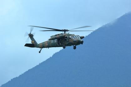 富士総合火力演習 救難ヘリコプターUH-60JA 静岡県