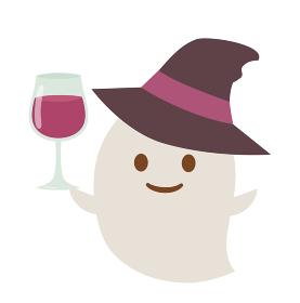 ワインで乾杯するお化け