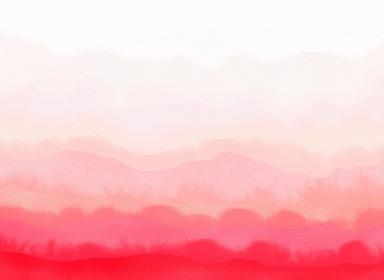 抽象的なグラデーション背景の水彩画 赤色系