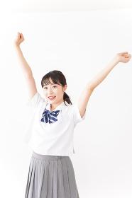 笑顔の若い学生
