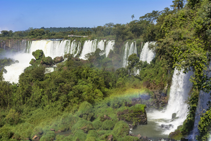 アルゼンチンサイドのイグアスの滝