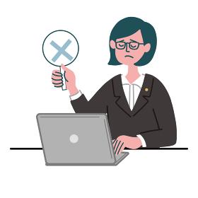 スーツ 女性 メガネ 士業 パソコン バツ