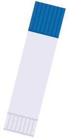 イラスト素材 スティックのり 文房具 接着剤 事務用品 アイコン ベクター