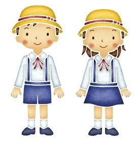 幼稚園児の男の子と女の子